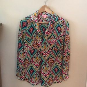 Lilly Pulitzer Boston Top Crown Jewels Sz XS